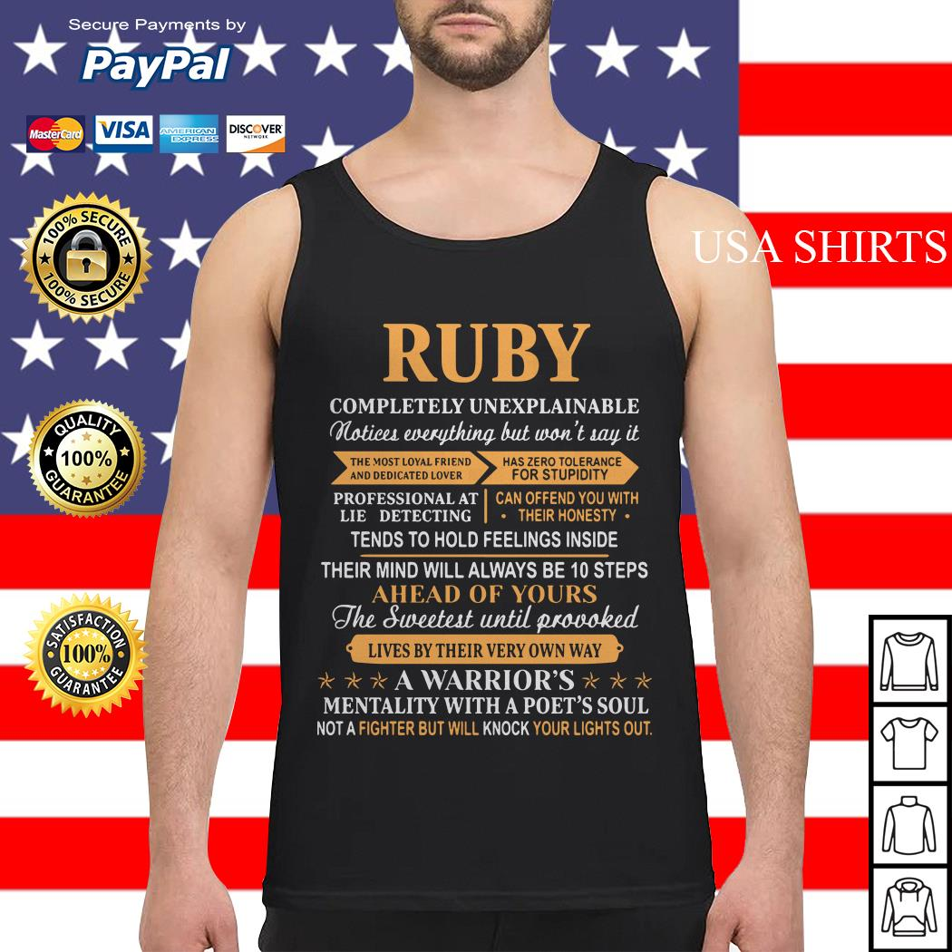 Ruby completely unexplainable notices everything Tank top