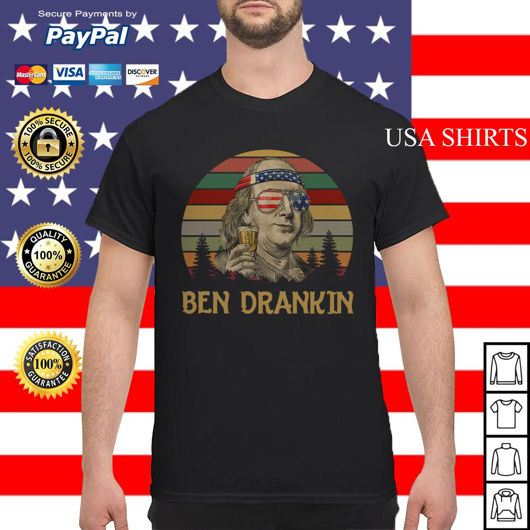 Ben Drankin beer 4th Of July vintage shirt