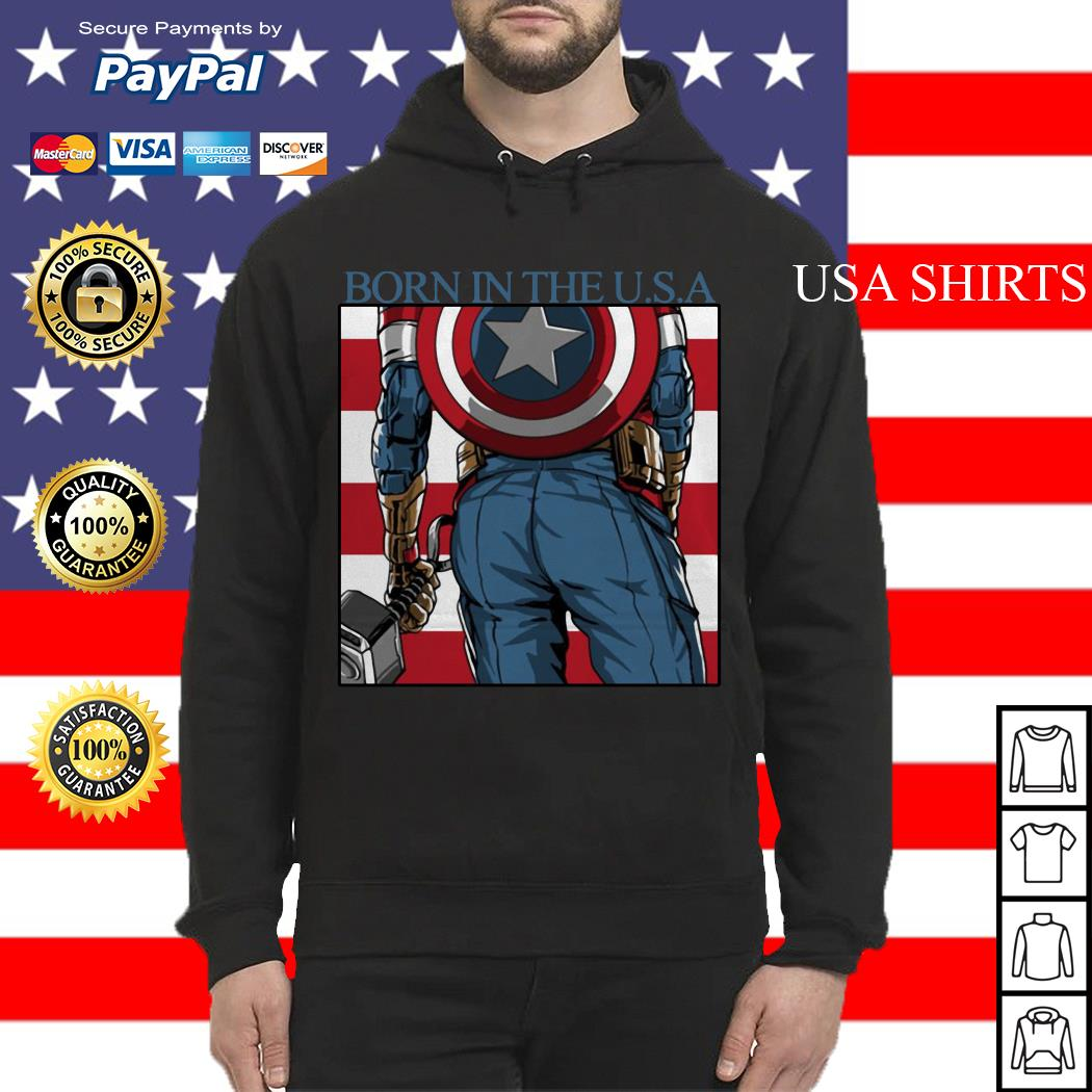Captain America Chris Evans born in the USA Hoodie