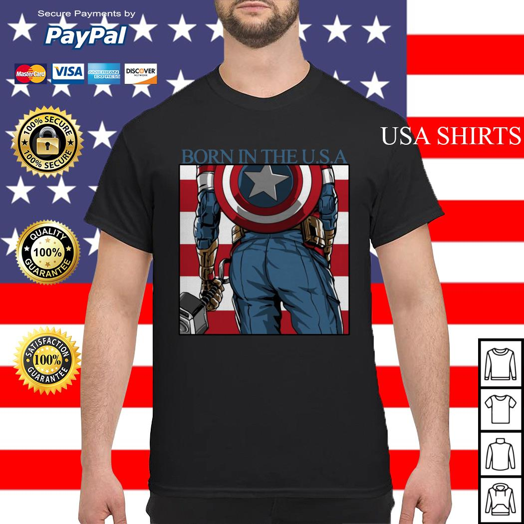 Captain America Chris Evans born in the USA shirt