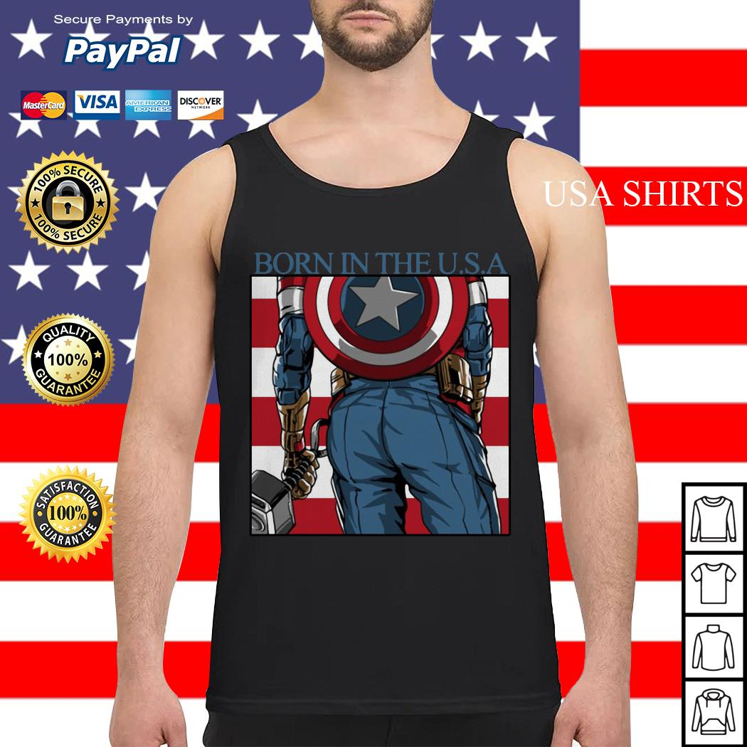 Captain America Chris Evans born in the USA Tank top
