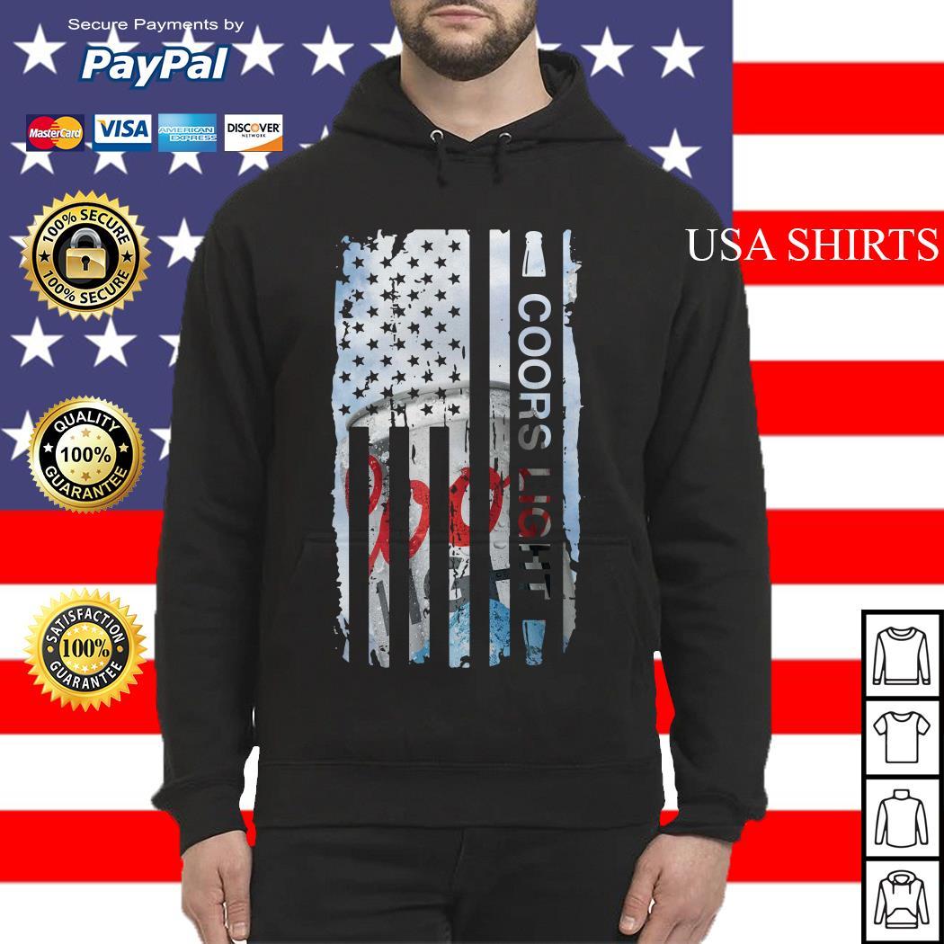 Coors Light flag America Hoodie