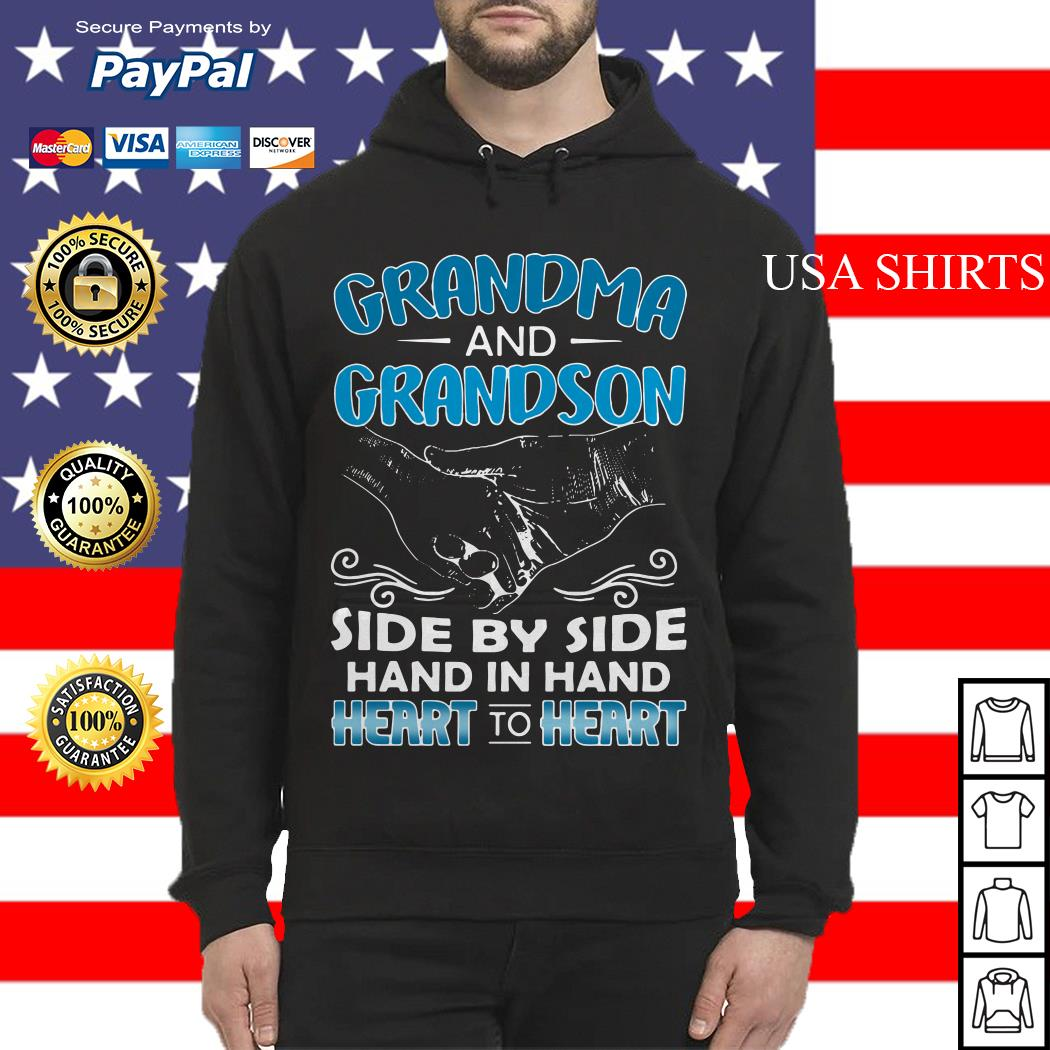 Grandma and Grandson side by side hand in hand heart to heart Hoodie