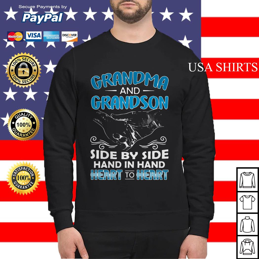 Grandma and Grandson side by side hand in hand heart to heart Sweater