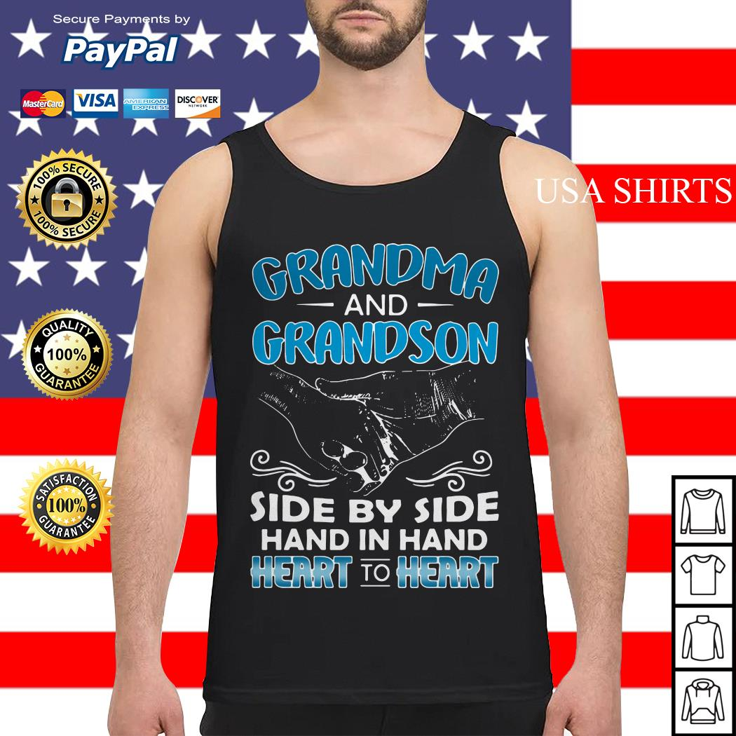 Grandma and Grandson side by side hand in hand heart to heart Tank top