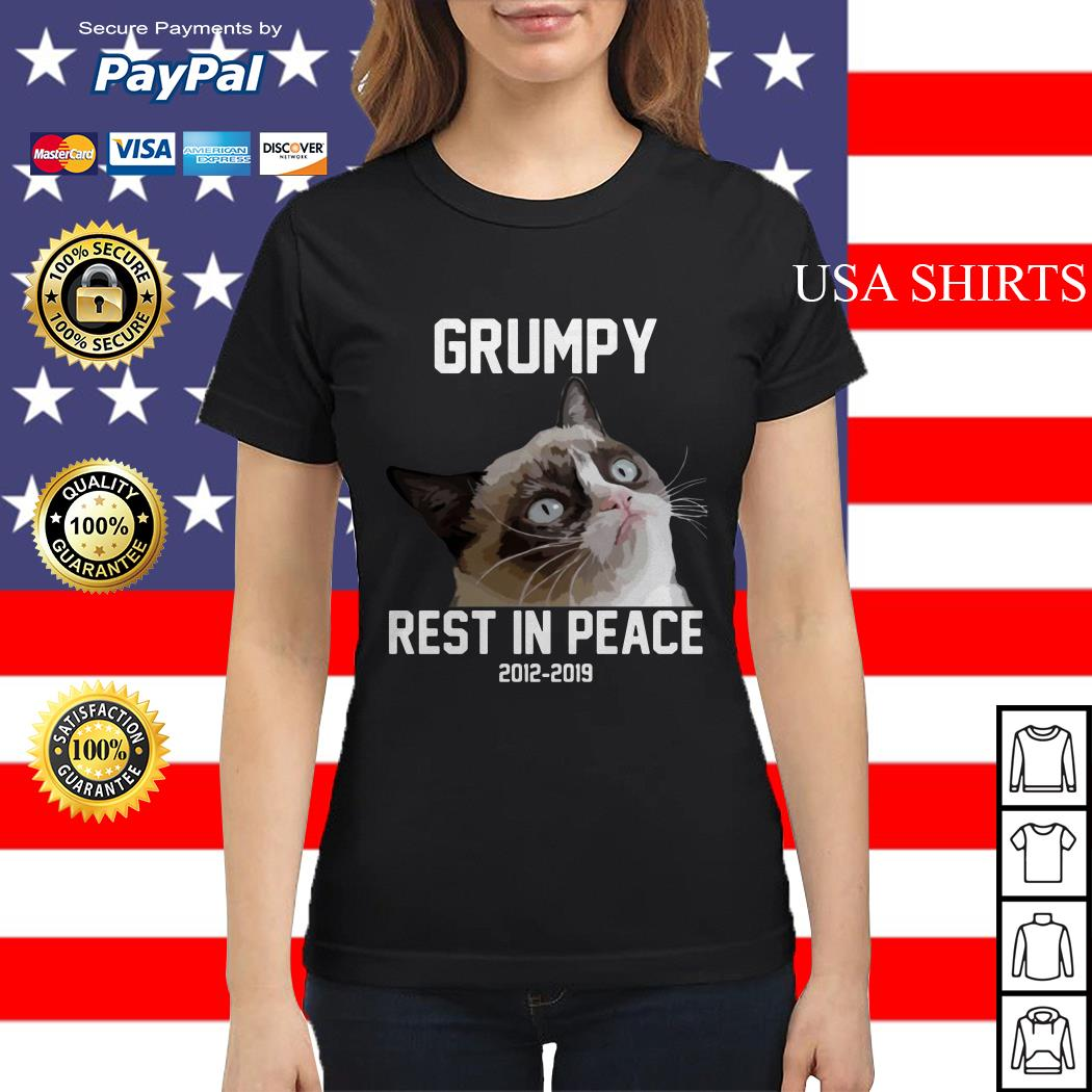 Grumpy cat rest in peace 2012 2019 Ladies tee