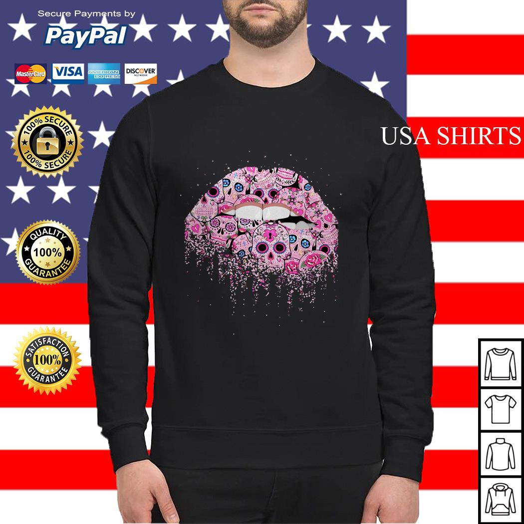 Lip pink skull tattoo Sweater