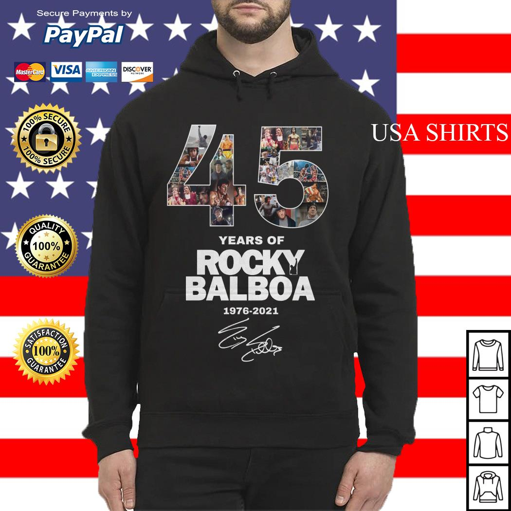 Official 45 years of Rocky Balboa 1976 2021 Hoodie