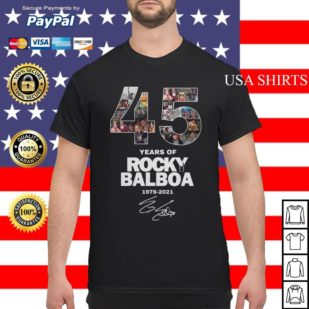 Official 45 years of Rocky Balboa 1976 2021 shirt