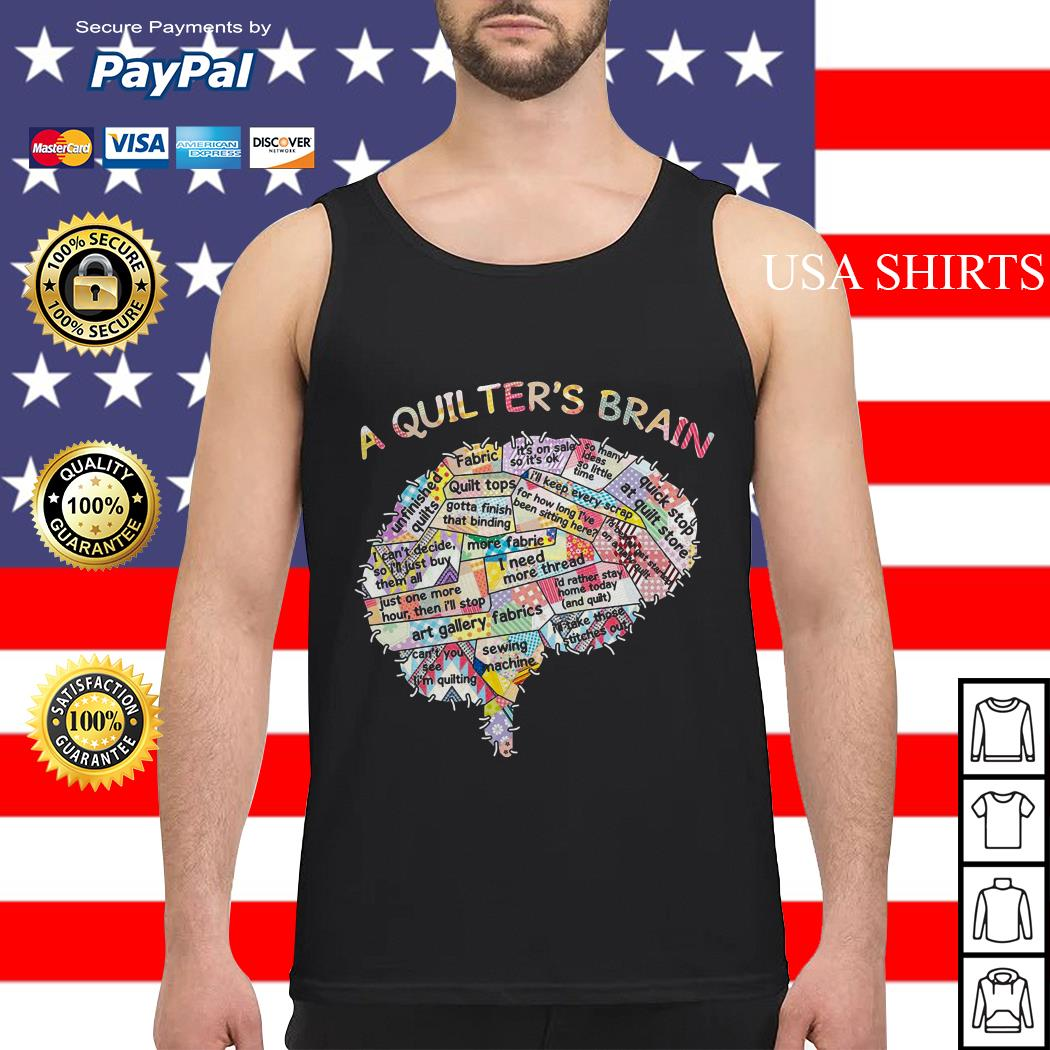 A quilter's brain of people Tank top