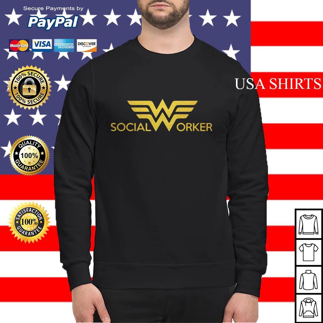Wonder woman social worker Sweater