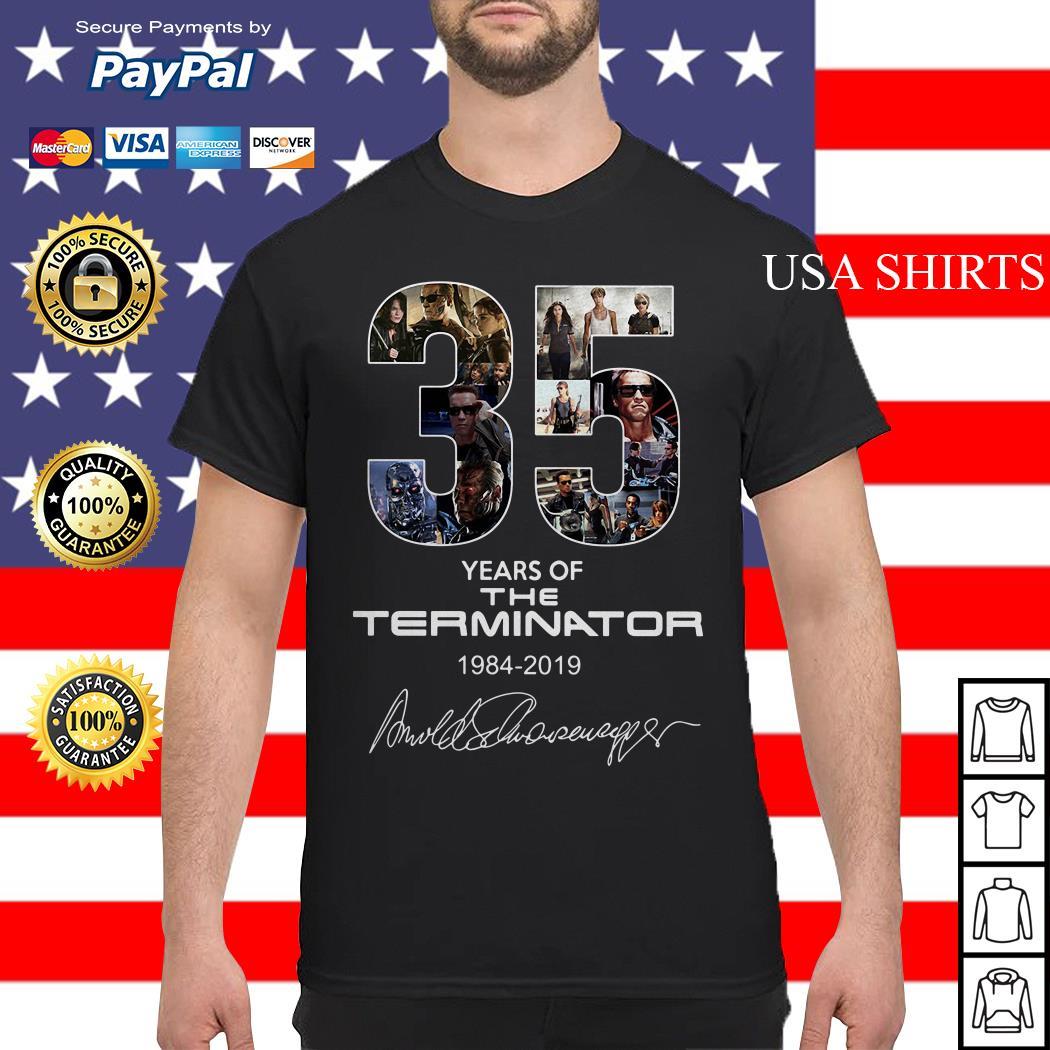 35 years of the Terminator 1984 2019 shirt