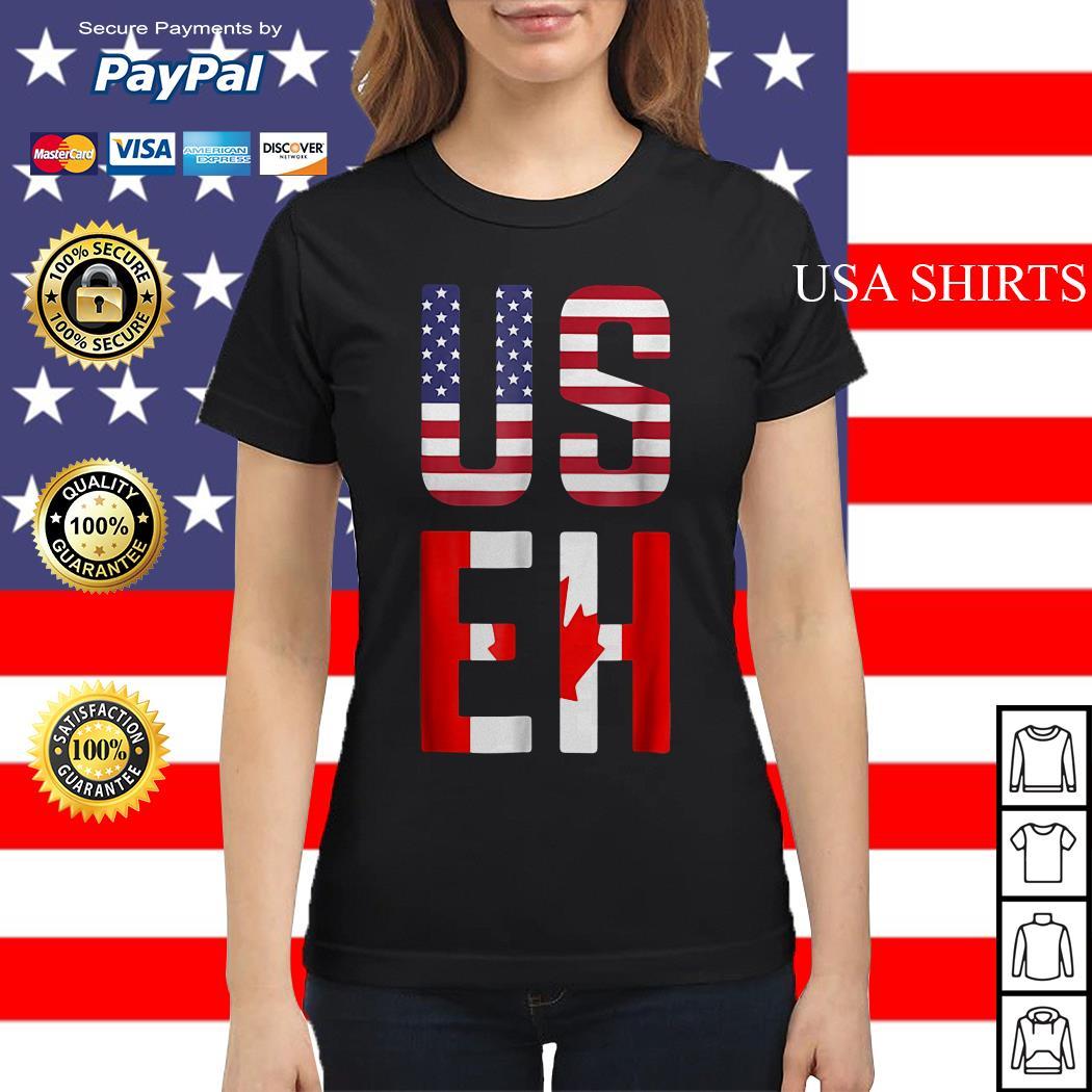 American Canadian US EH ladies tee