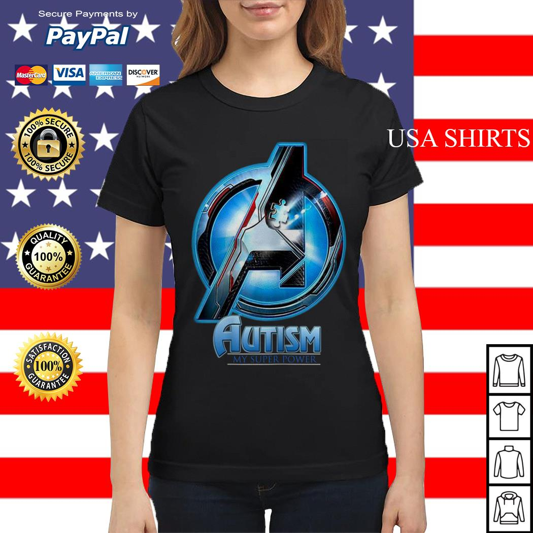Avengers Endgame Autism my superpower Ladies tee