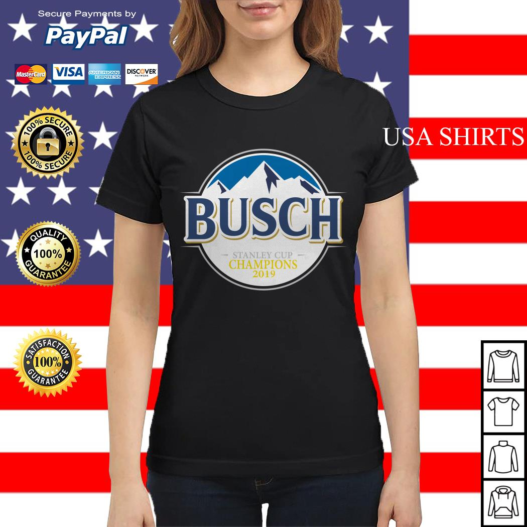 Blues Busch stanley cup champions 2019 Ladies tee