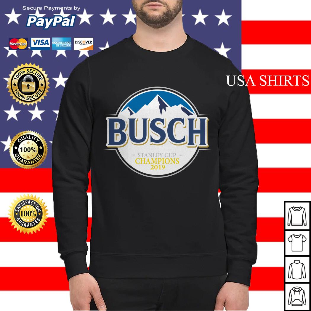 Blues Busch stanley cup champions 2019 Sweater