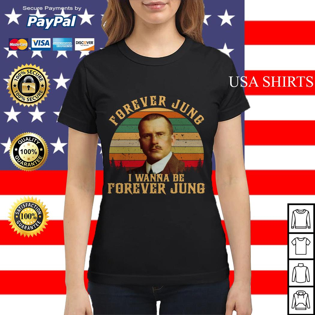 Carl Jung Forever Jung I Wanna Be Forever Jung sunset Ladies tee