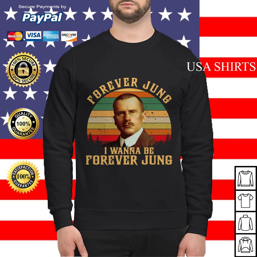 Carl Jung Forever Jung I Wanna Be Forever Jung sunset Sweater