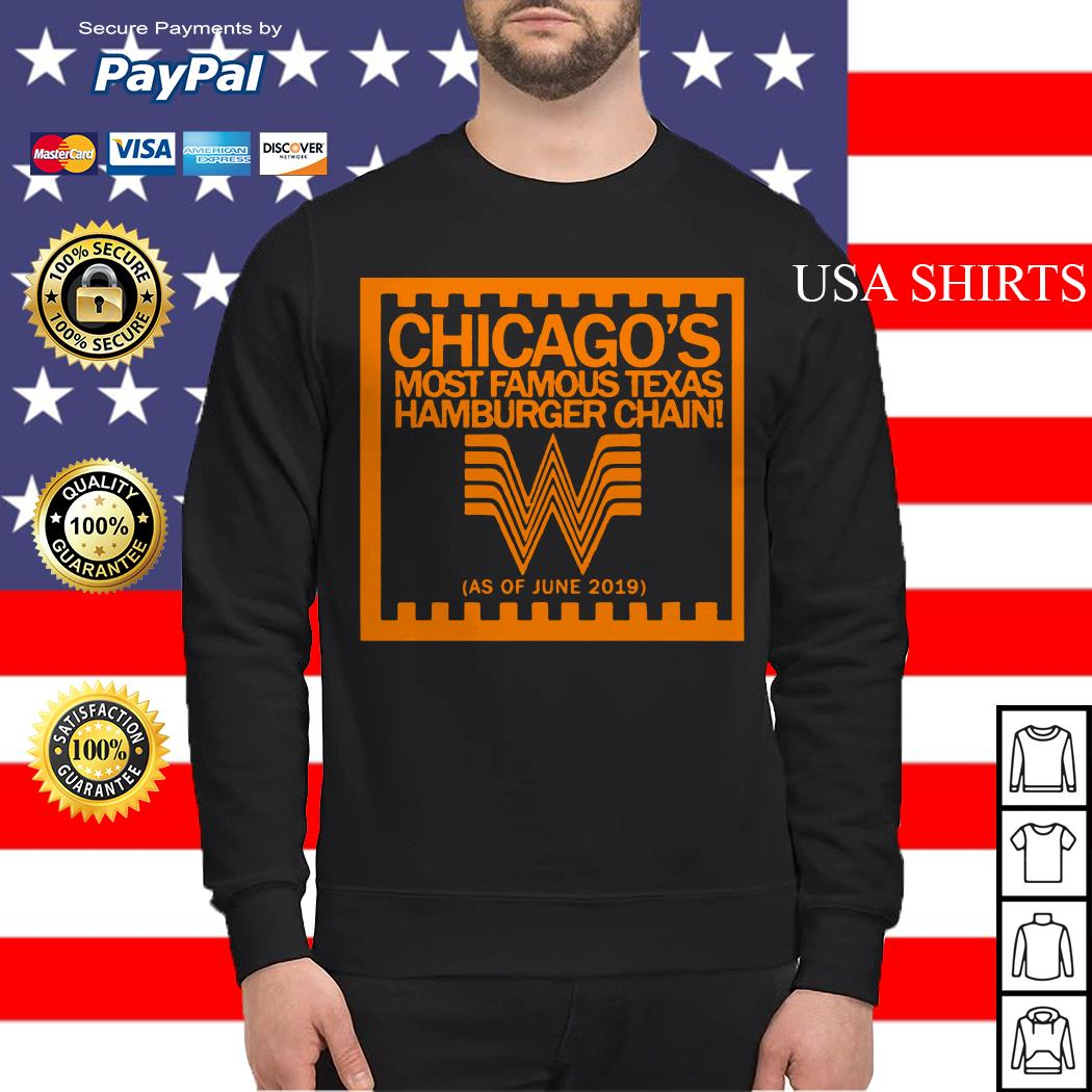 Chicago's most famous texas hamburger chain Sweater