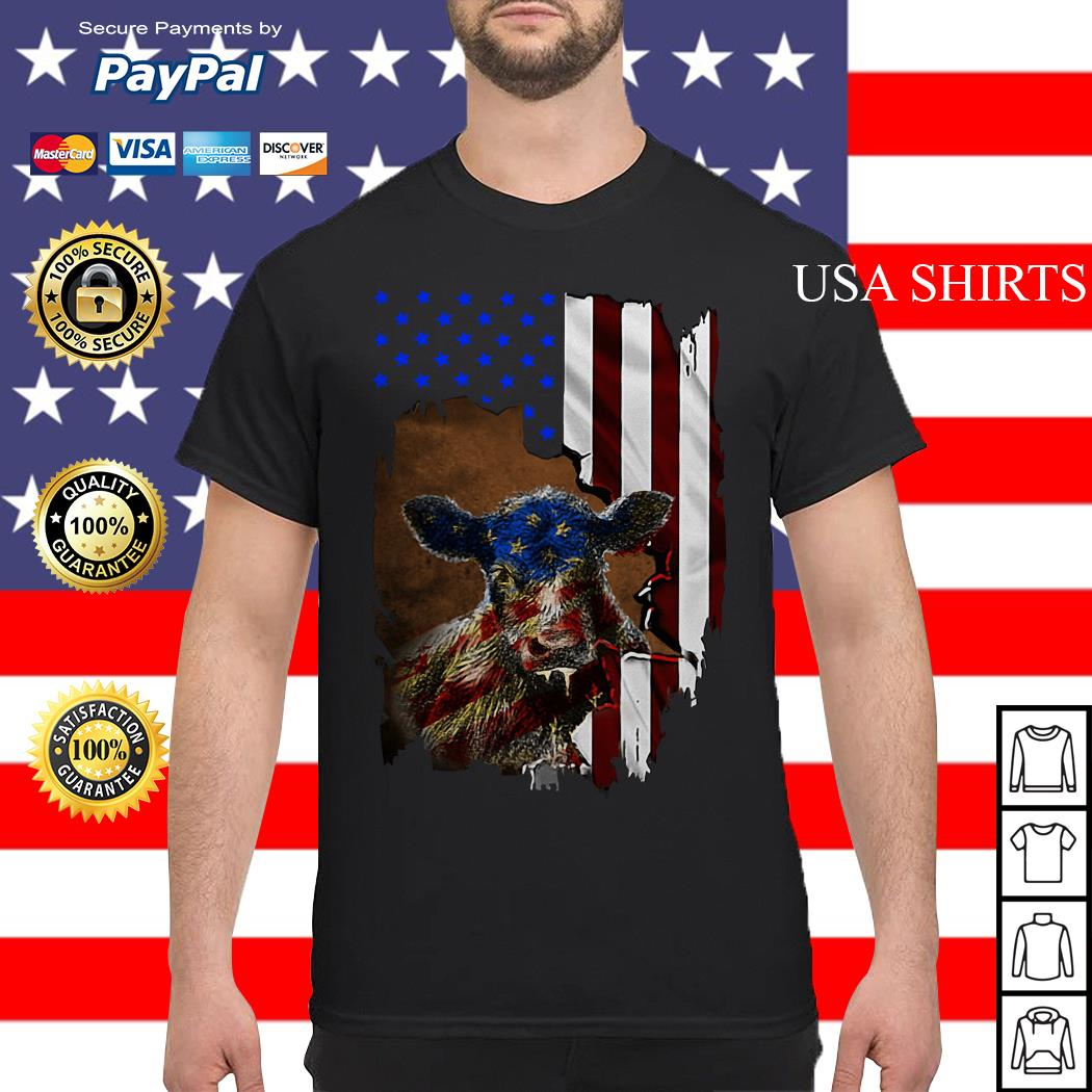 Cow American flag 4th of July Independence day shirt