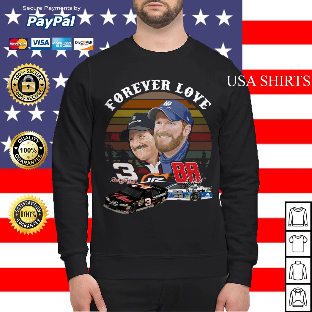 Dale Earnhardt Jr. and his Dad Forever love Sweater