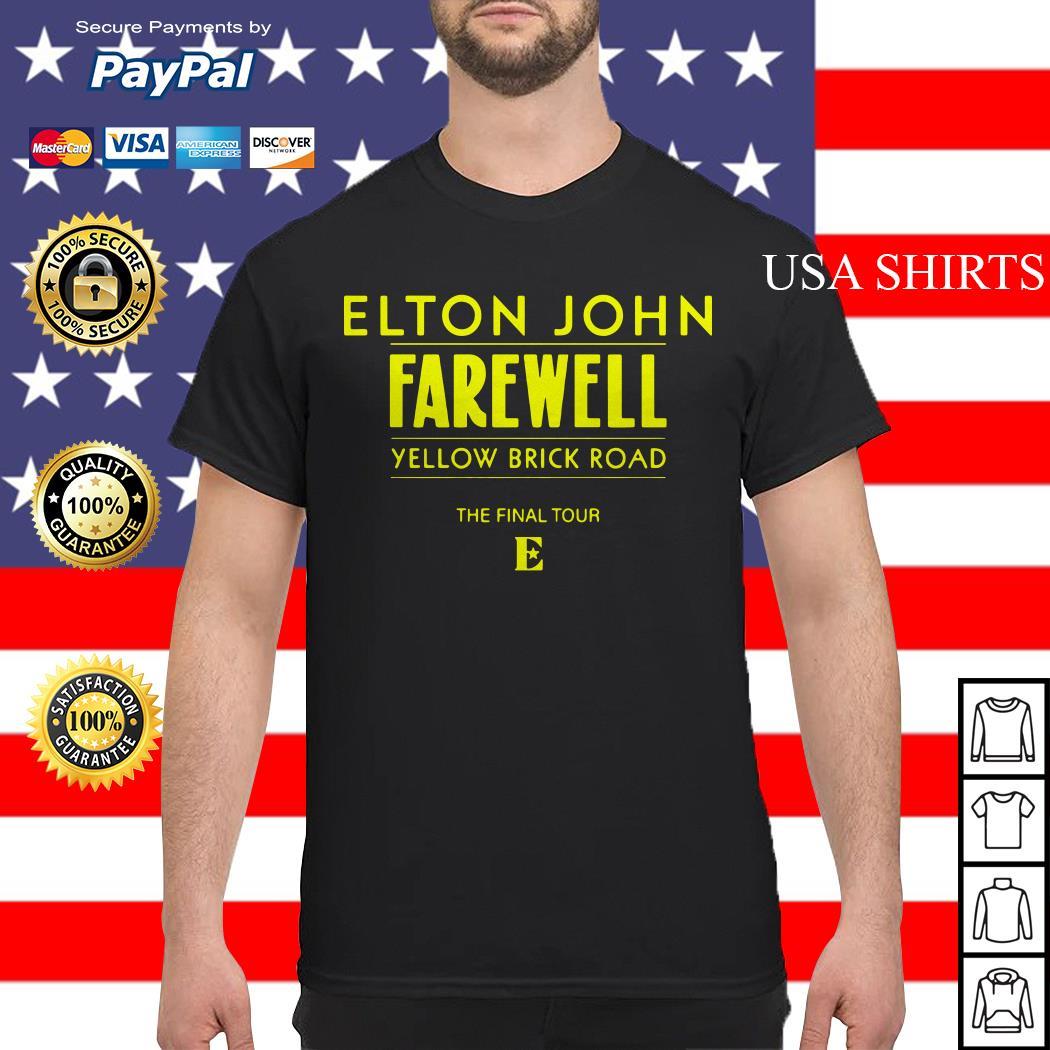 Elton John Farewell yellow brick road the final tour shirt
