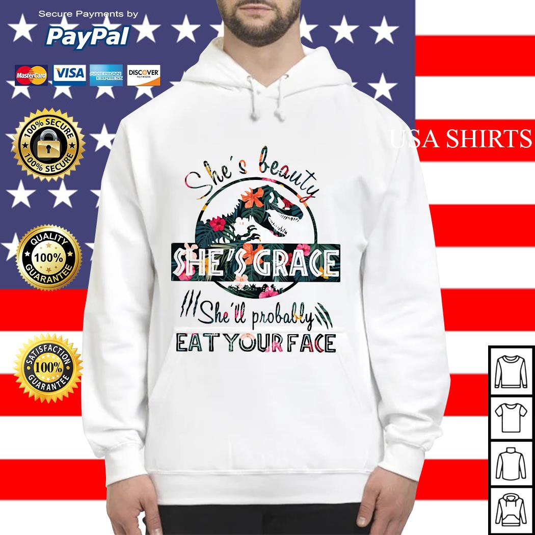 Floral Jurassic she's probably eat your face Hoodie