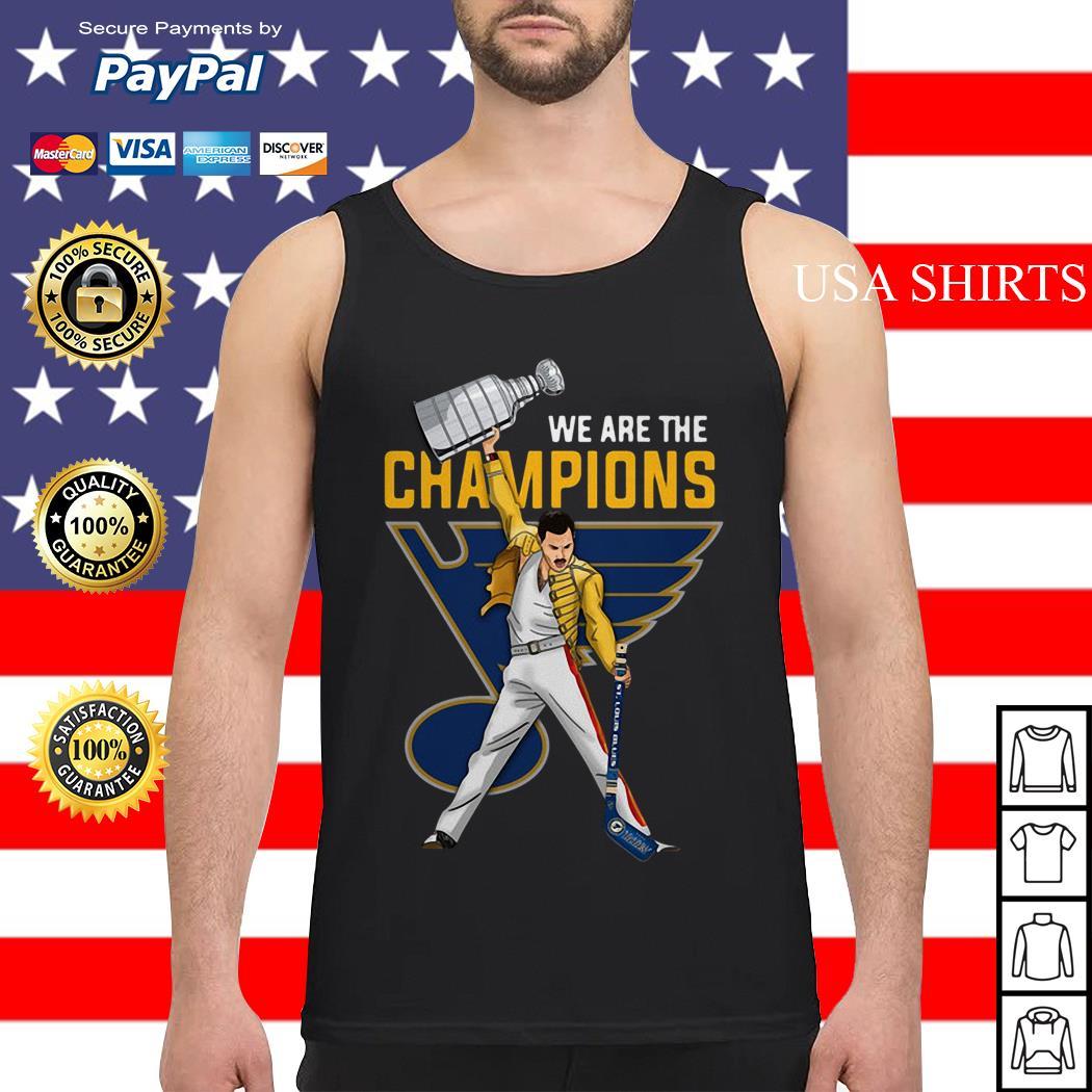 Freddie Mercury St. Louis Blues We Are Champions Tank top