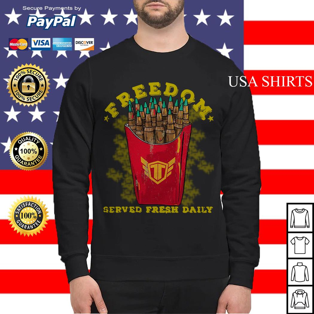 Freedom served fresh daily Sweater
