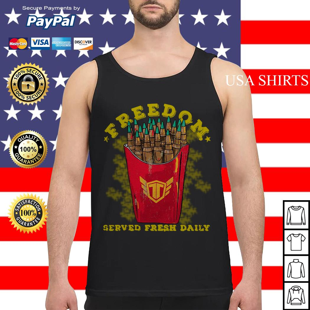 Freedom served fresh daily Tank top
