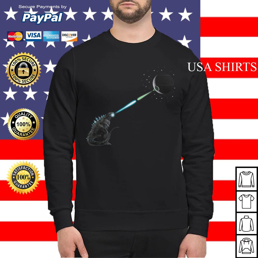Godzilla And Death Star Fight Sweater