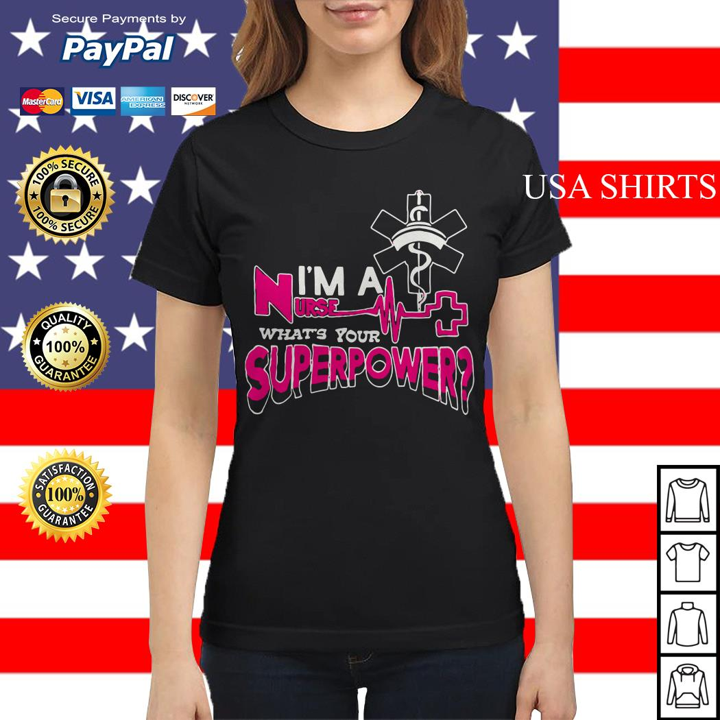 I'm a nurse what's your superpower Ladies tee