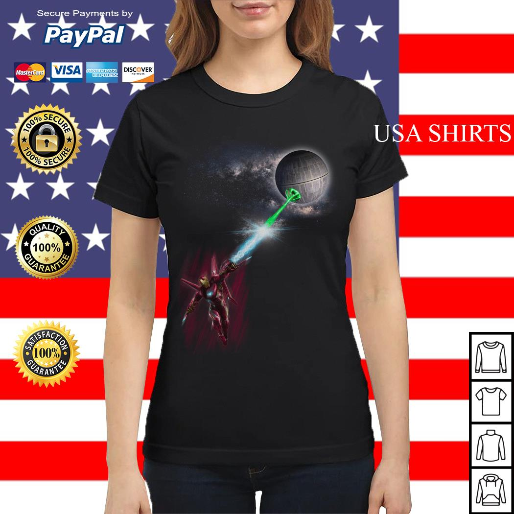 Iron Man and Death Star Ladies tee