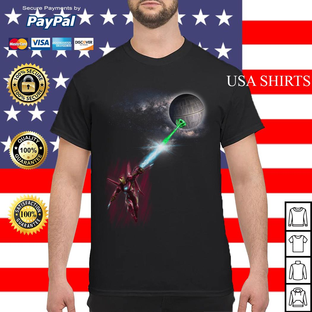 Iron Man and Death Star shirt