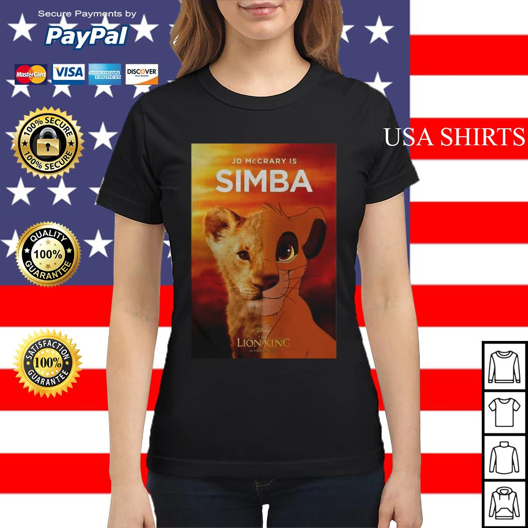Jd McCrary is Simba The Lion King Ladies tee