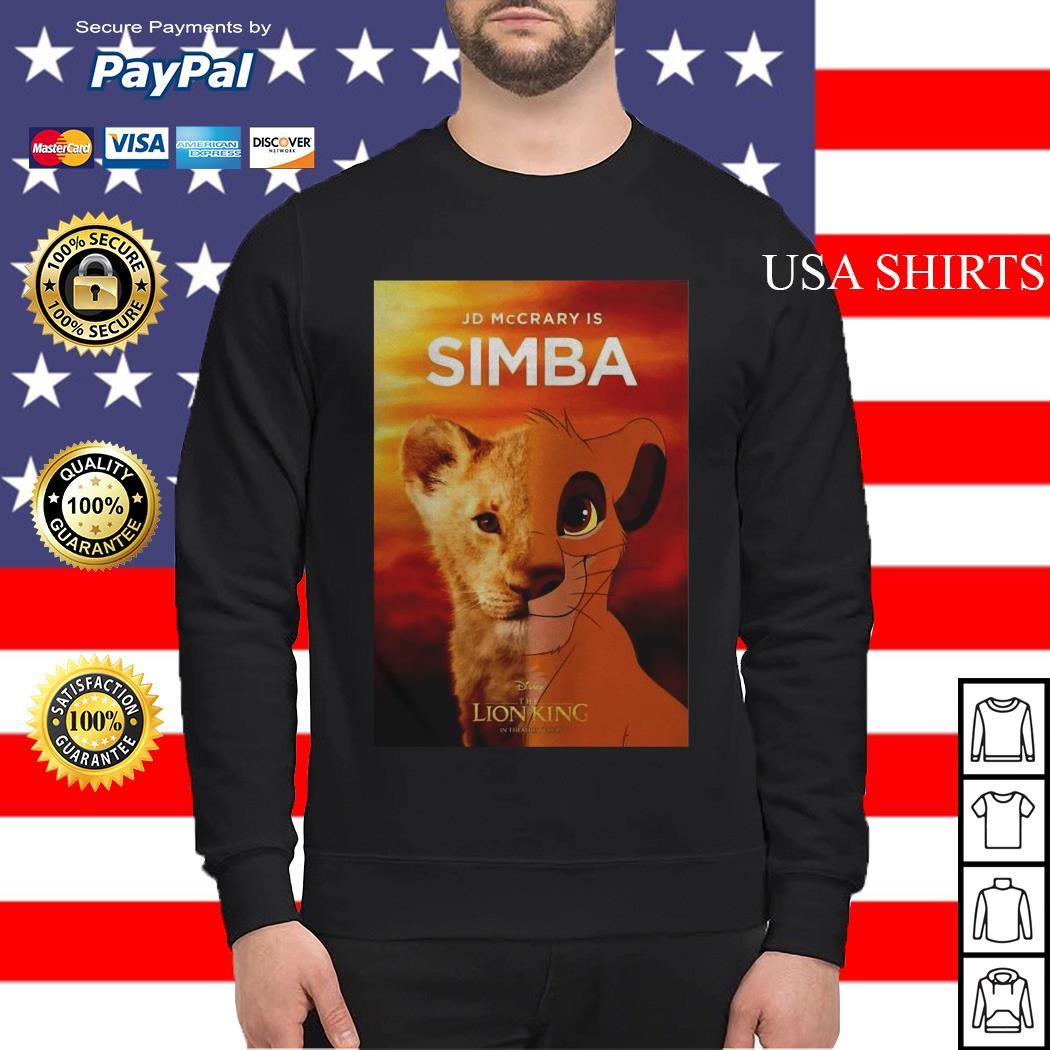 Jd McCrary is Simba The Lion King Sweater