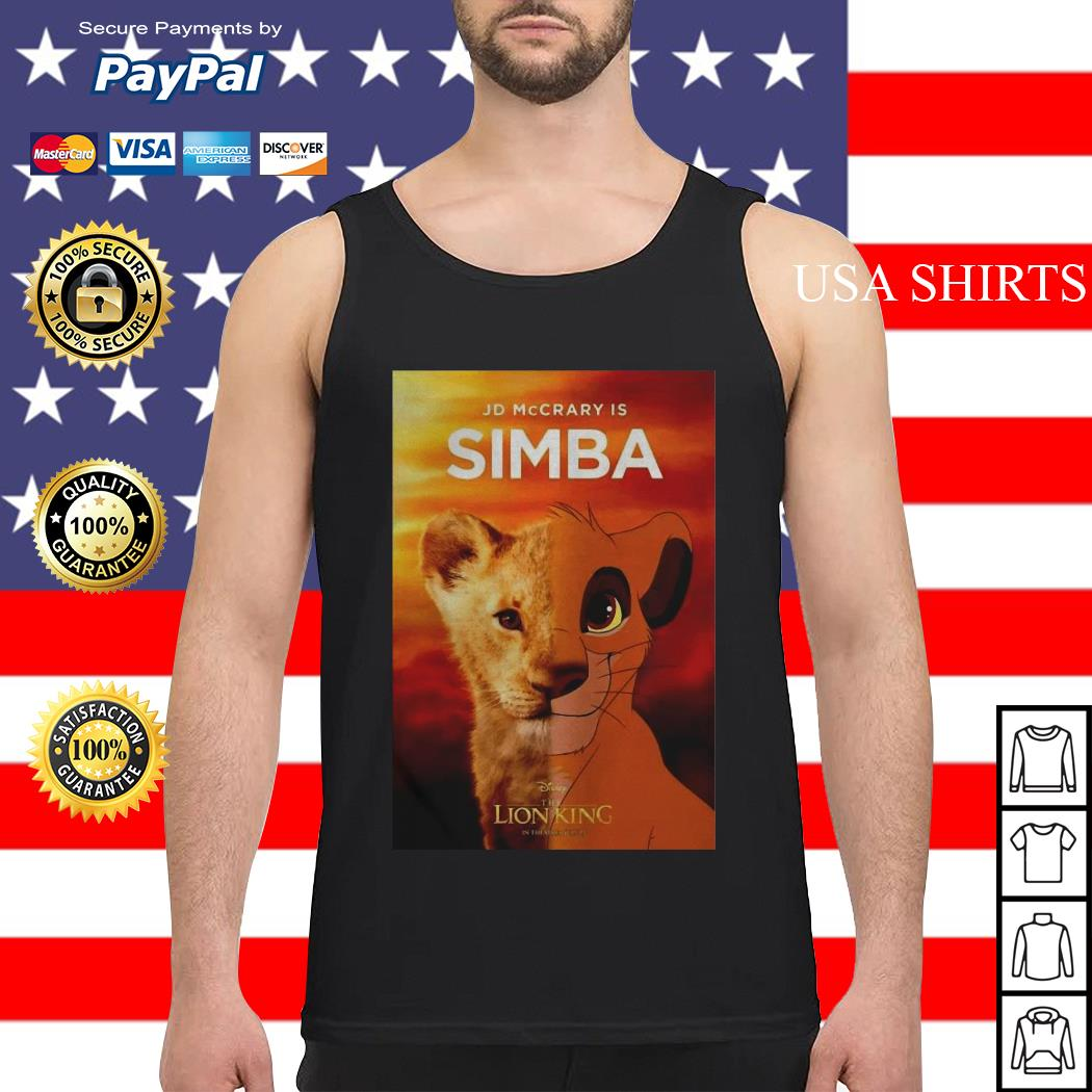 Jd McCrary is Simba The Lion King Tank top
