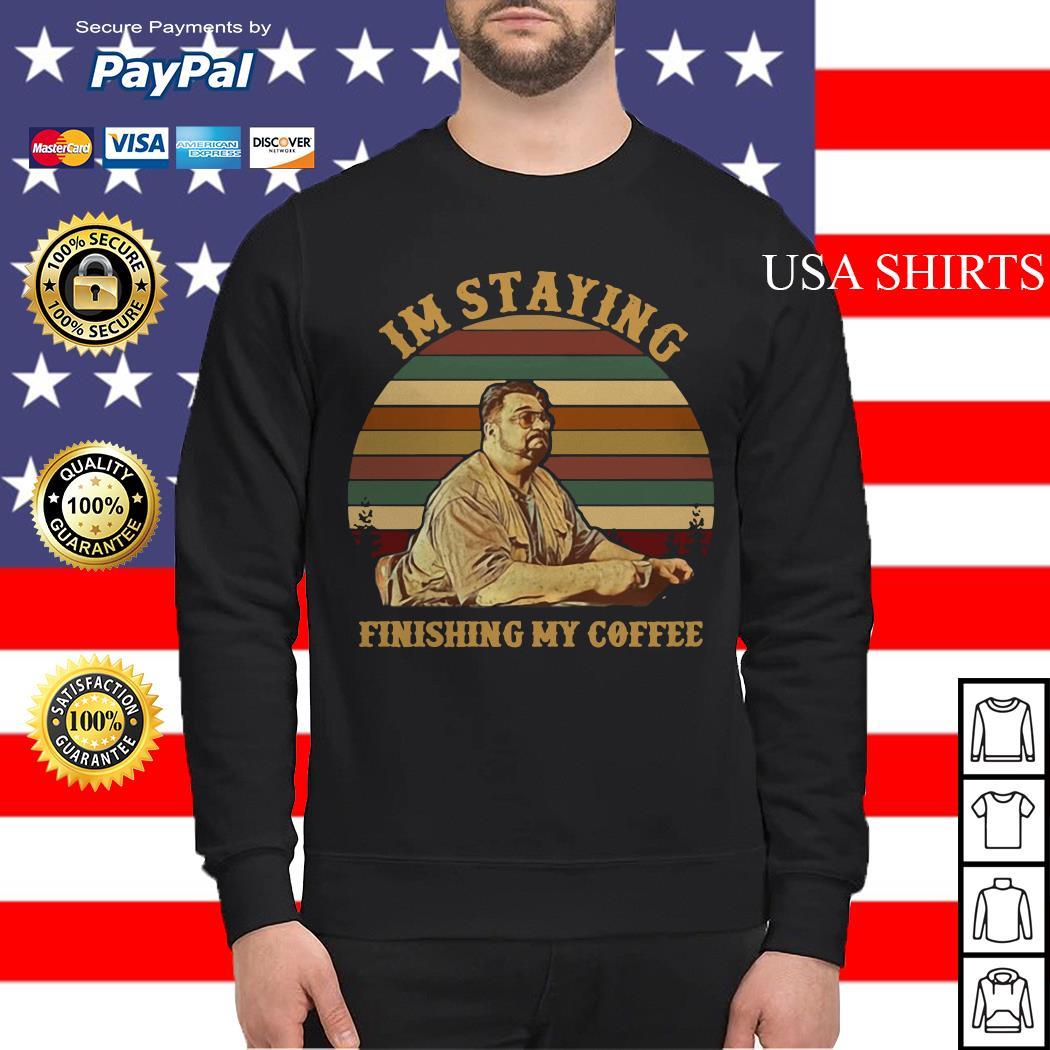 Jeff Lebowski Im staying finishing my coffee vintage Sweater