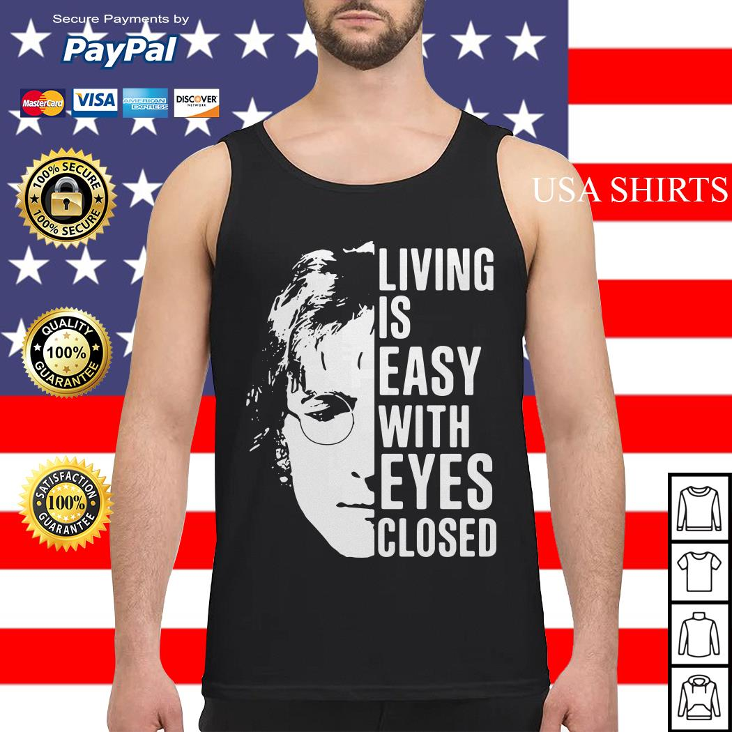 John Lennon living is easy with eyes closed Tank top