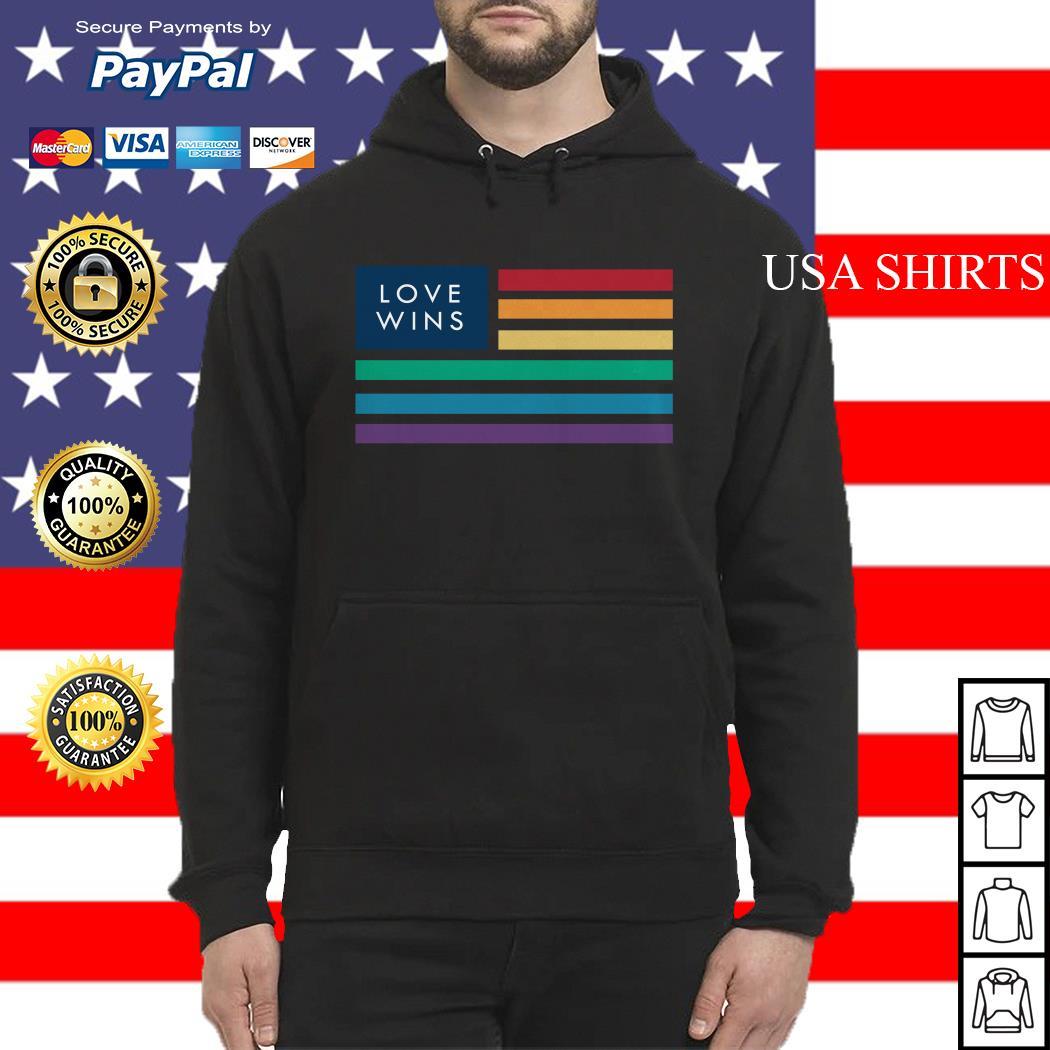 LGBT love wins flag America Hoodie