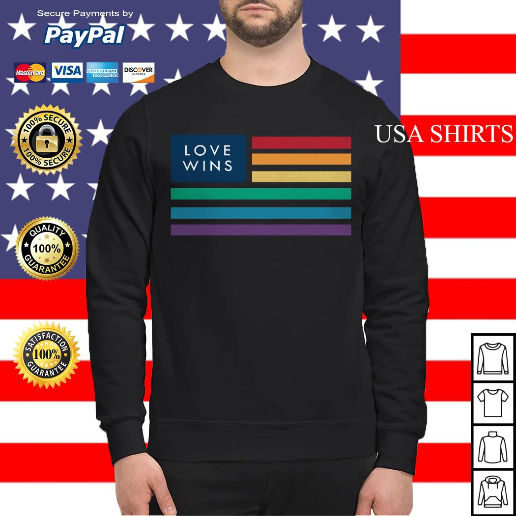 LGBT love wins flag America Sweater