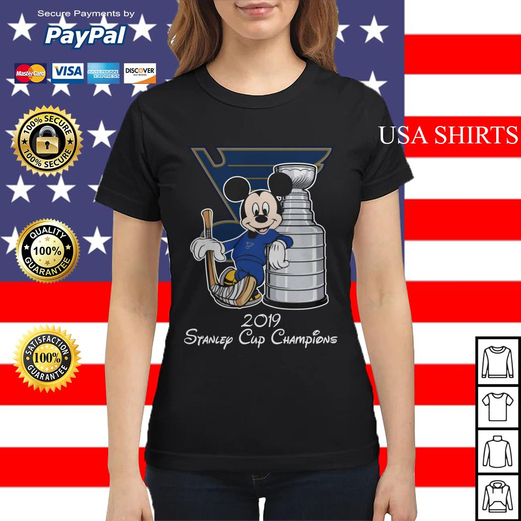 Mickey mouse 2019 Stanley cup champions Ladies tee