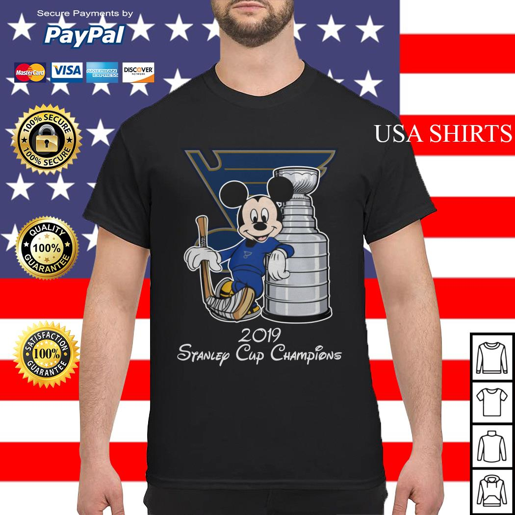 Mickey mouse 2019 Stanley cup champions shirt
