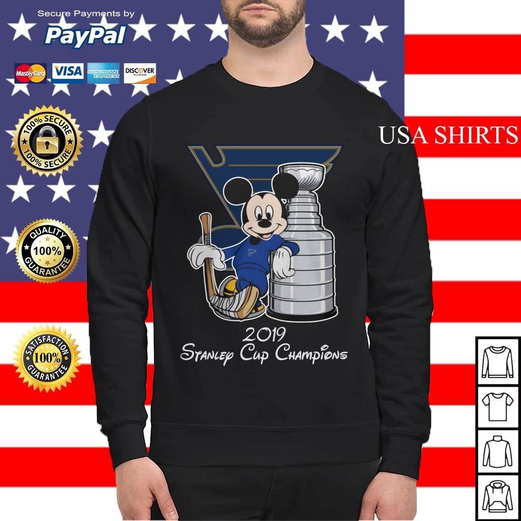 Mickey mouse 2019 Stanley cup champions Sweater