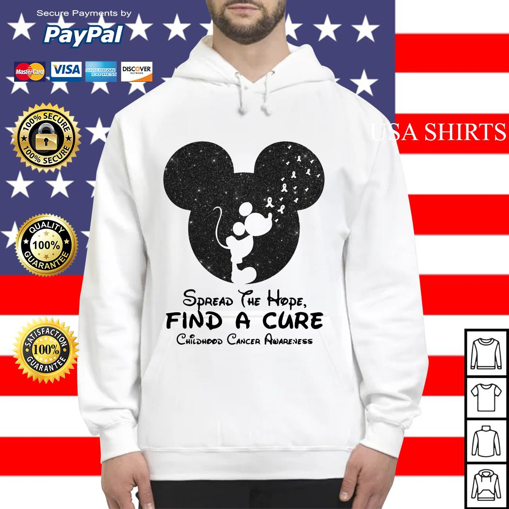 Mickey mouse Spread the hope find a cure childhood cancer awareness Hoodie