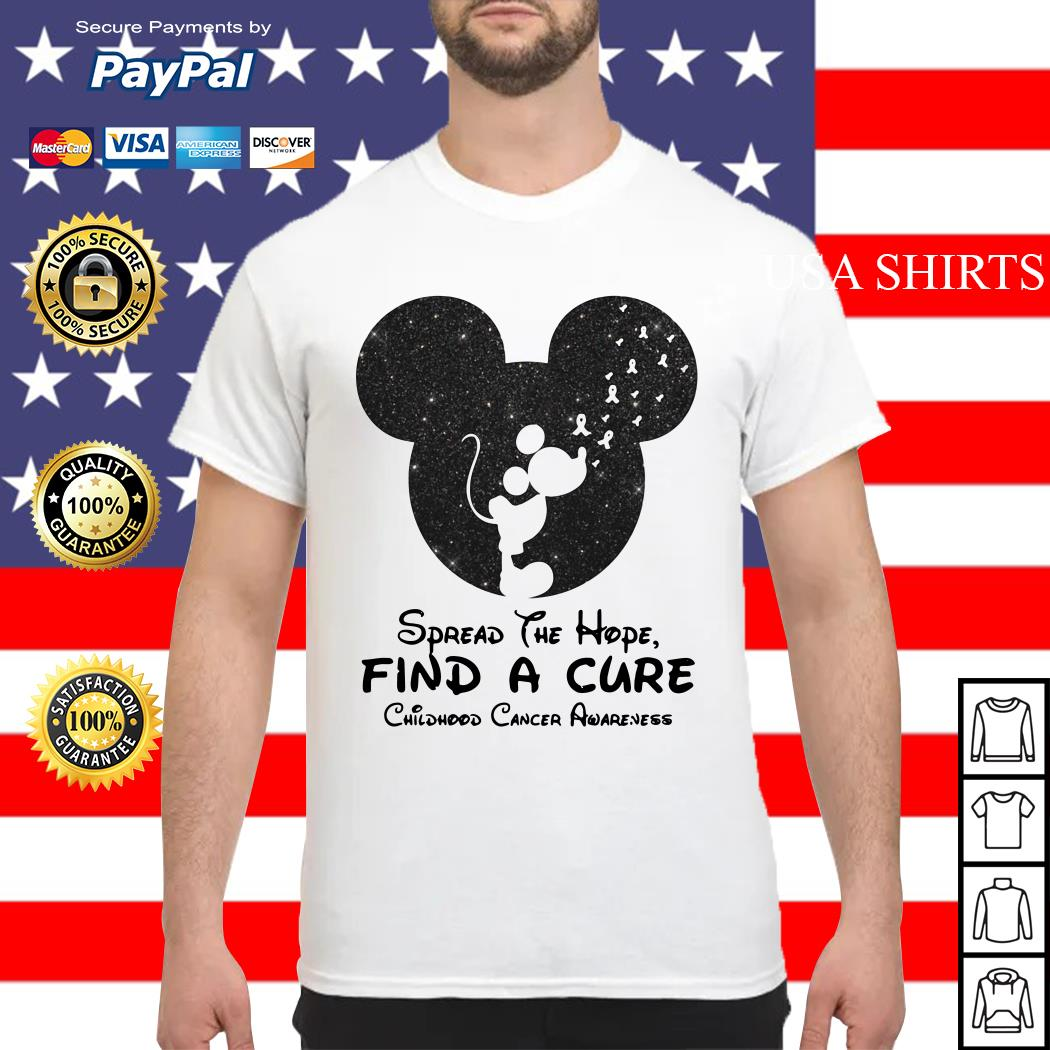 Mickey mouse Spread the hope find a cure childhood cancer awareness shirt