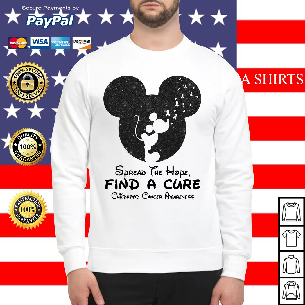 Mickey mouse Spread the hope find a cure childhood cancer awareness Sweater