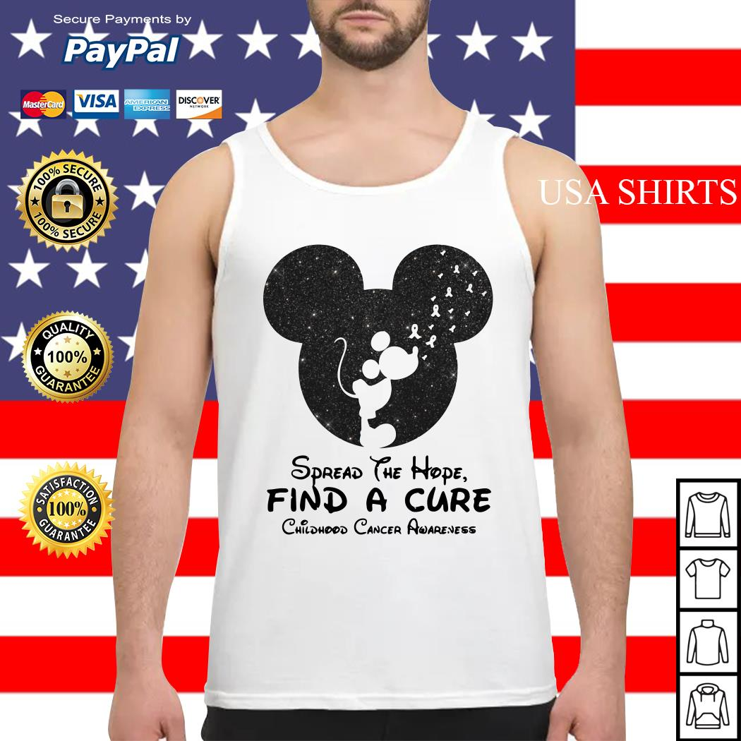 Mickey mouse Spread the hope find a cure childhood cancer awareness Tank top