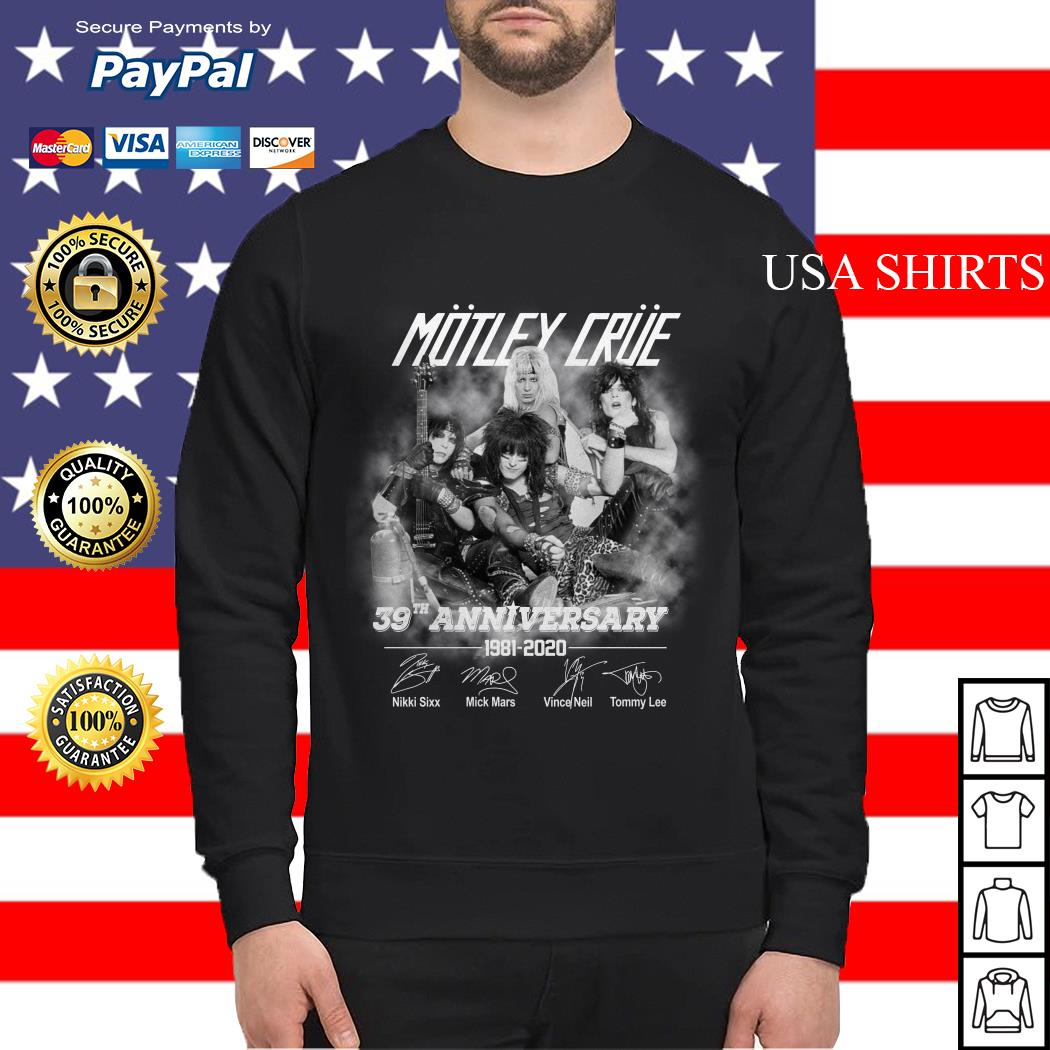 Motley crue 39th anniversary 1981 2020 Sweater