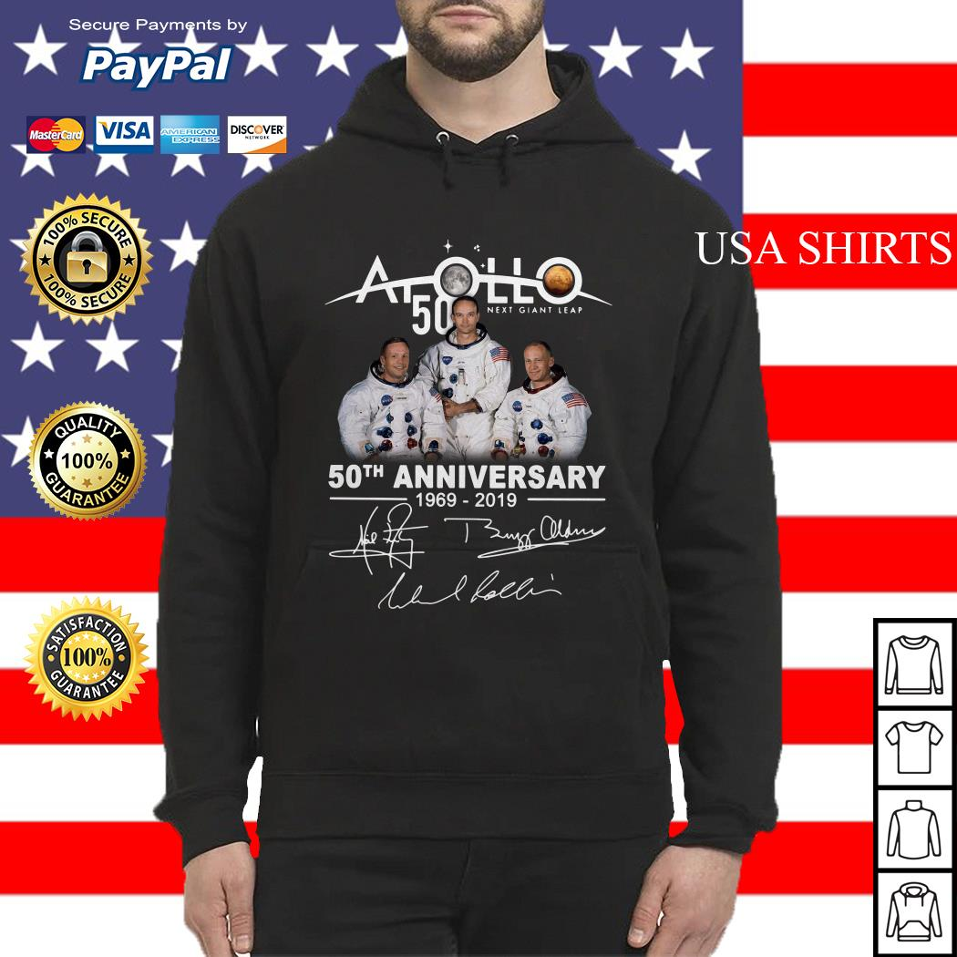 NASA Apollo 50th Anniversary 11 moon landing 1969-2019 signature Hoodie